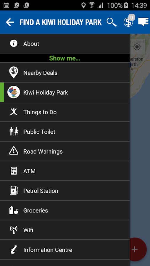 Kiwi Holiday Parks- screenshot