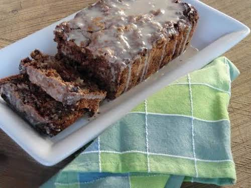"""Iced Cinnamon Apple Raisin Bread""""This was my mom's recipe that she would..."""