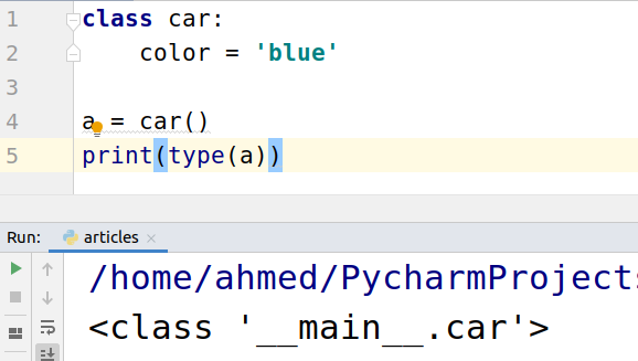 type() function in Python with Examples