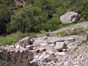 Photo: Chimera, ruins of the altar from the Tempel of Hephaistos ..........Resten van het altaar voor de Tempel van Hephaistos.