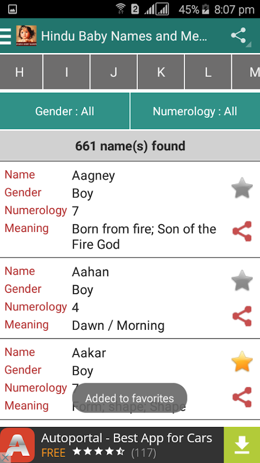 Hindu Baby Names And Meanings Screenshot