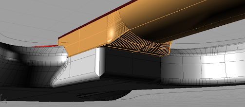 Photo: The neck heel, if it's called like that, I'm not sure. Notice it's a bolt-on but doesn't have any bolts yet.