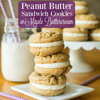 Peanut Butter Sandwich Cookies w/Maple Buttercream