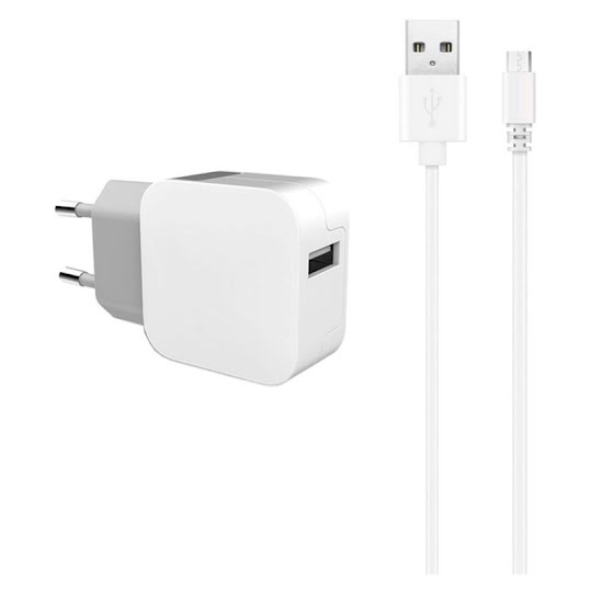 Key Power Wall With Cable 2.4a 1x USB 1M Micro Usb