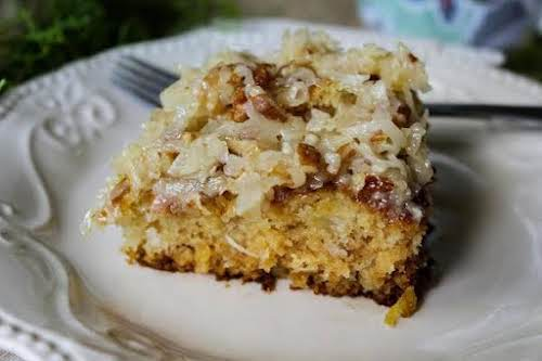 """Cajun Cake """"Yum! This is a warm, gooey, old-fashioned cake everyone will..."""