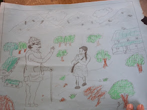 Photo: A drawing by one of the students.