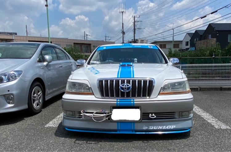 クラウンマジェスタ UZS171のクラウンマジェスタ,猛暑日,買い物スーパー駐車場,ラインに関するカスタム&メンテナンスの投稿画像1枚目