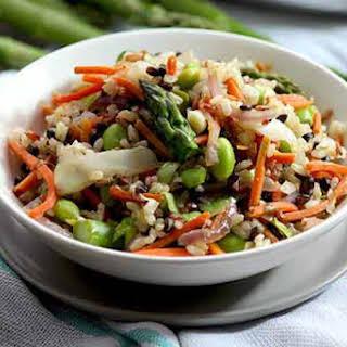 Wild Rice and Vegetable Stir Fry.