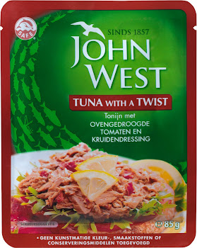 John West Tuna - Oven Dried Tomato & Herb Dressing, 85g