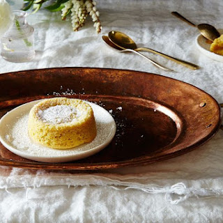 "Tahini ""Soufflé"" (Molten Tahini Cakes)."