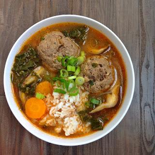 Kimchi Meatball Soup