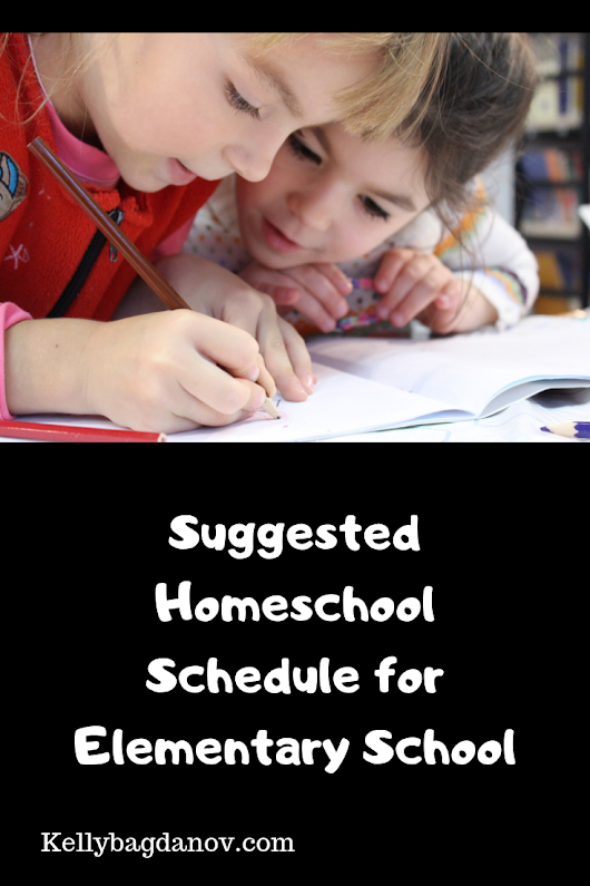 Avoid the overwhelm and create a reasonable homeschooling schedule for the early years. #kellybagdanov #homeschooling #homeschoolschedule #homeeducation #schedule