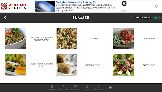 My Italian Recipes- screenshot thumbnail