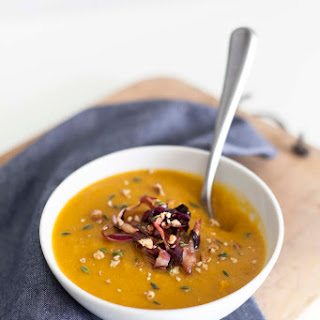 Healthy Pumpkin Soup with Radicchio