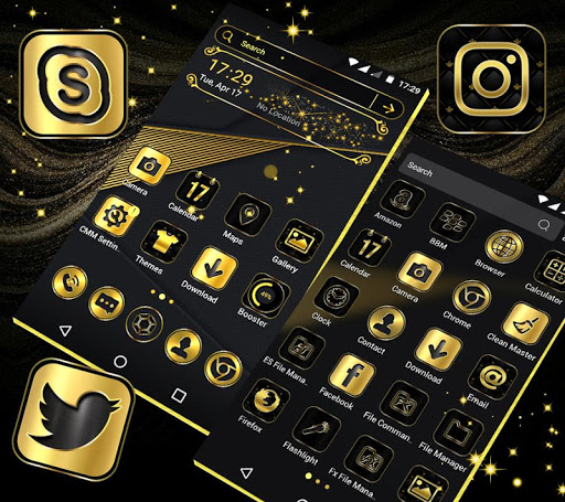 Gold Black Launcher Theme 2.1 1