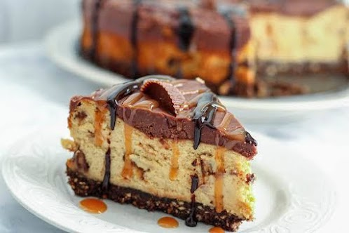 Click Here for Recipe: Rich and Creamy Peanut Butter Cup Cheesecake