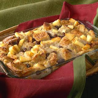 Apple Raisin Bread Pudding.