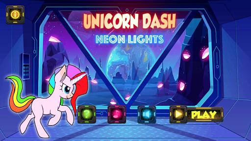 Unicorn Dash Neon Lights: Unicorn Games screenshots 7