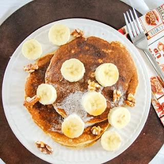 Whole Grain Pancakes with Oats, Bananas, Walnuts and Celtic Sea Salt