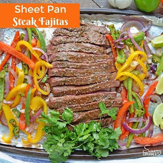 Sheet Pan Steak Fajitas.