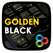 Golden Black Go Launcher Theme