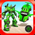 Flying Army Car Transform Robot Shooting Game icon