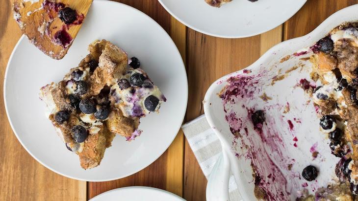 Overnight Lemon Blueberry Muffin Casserole Recipe