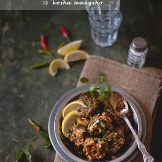 Spicy Goat Curry (Kosha Mangsho)