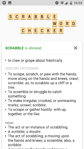 SCRABBLE Word Checker screenshot