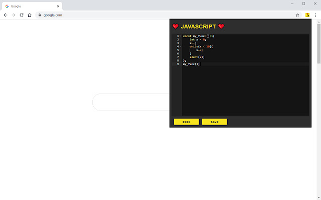 exec JavaScript