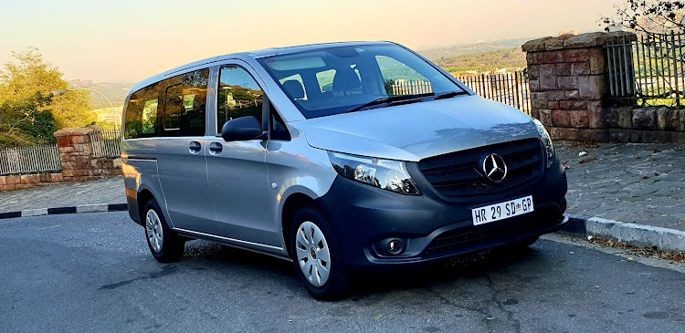 The rear two rows of seats can all be removed to turn this Vito into a cavernous panelvan. Access to the rear is made easy by sliding doors on each side. Picture: DENIS DROPPA