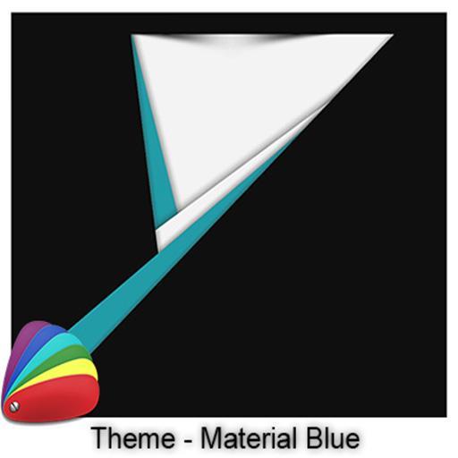 Theme - Material Blue 個人化 App LOGO-硬是要APP