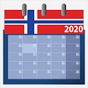 Norsk Kalender 2020 med helligdager icon