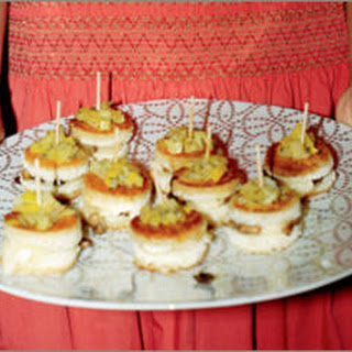 Petite Camembert Sandwiches with Leeks and Cremini