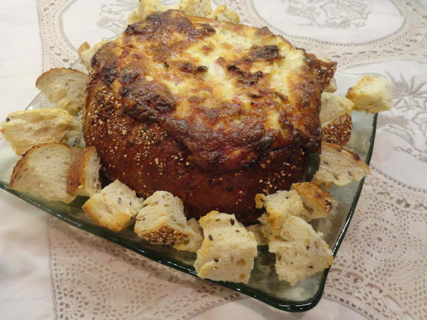 Ham And Swiss Hot Bread Bowl Dip Recipe