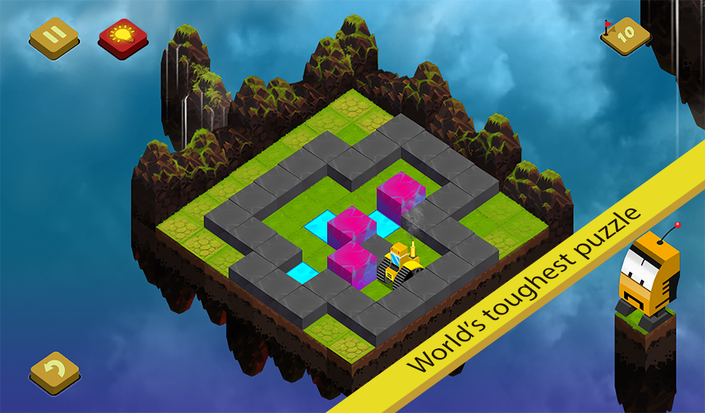 Sky Blocks Push - Sokoban Game- screenshot