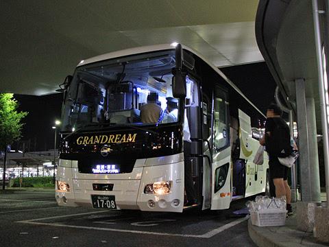 中国JRバス「グランドリーム横浜・東京2号」 1708 岡山駅西口改札中_02
