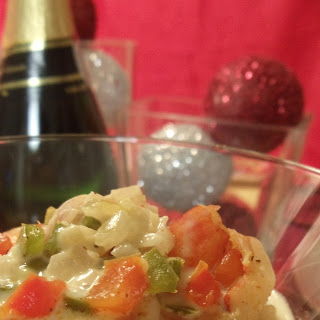 Shrimp & Grits with Champagne Cream Sauce Recipe