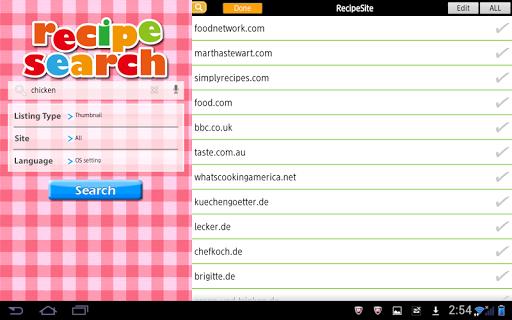 Recipe Search for Tab 3.2.11 Windows u7528 2