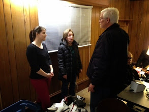 Photo: Ron Miller, In Ian's Boots Co-Founder Discusses Mission with Leo Advisor Kira Rumpp and Leo Parent