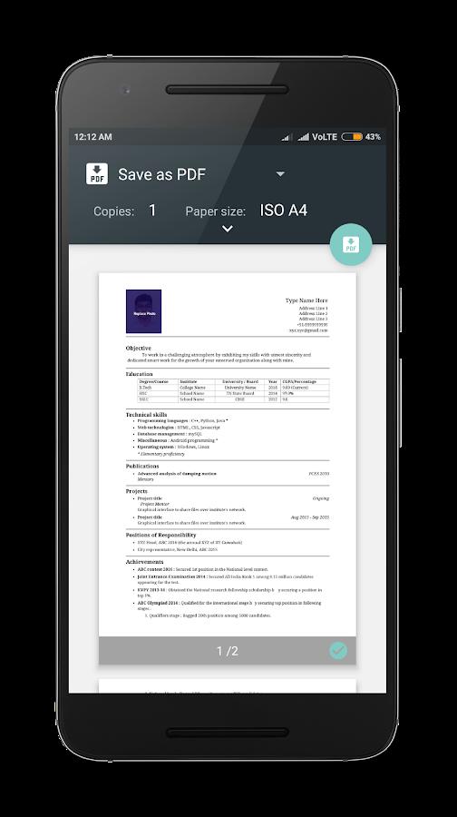 resume builder pro 3 min free cv maker templates screenshot - Free Resume Builder And Save
