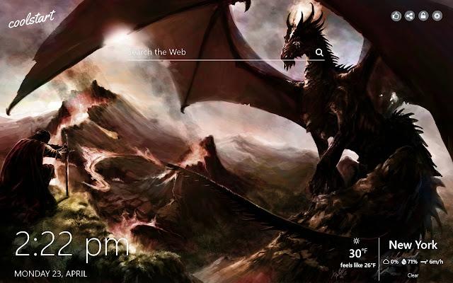 Dragons HD Wallpapers New Tab Theme