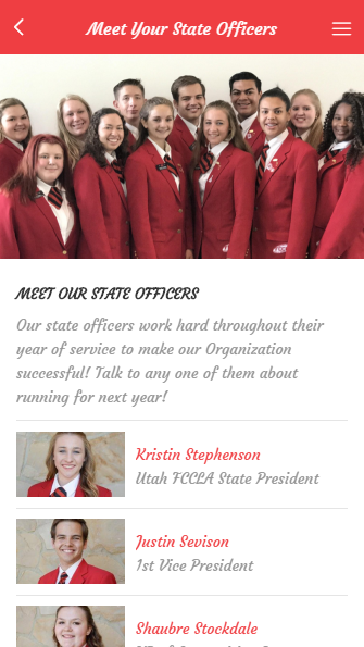 Utah FCCLA- screenshot