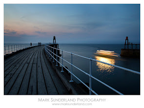 Photo: #SeaTuesday  The Twilight Cruise  For a chilly winter day (and #SeaTuesday curated by +Julia Anna Gospodarou) here's a memory of looking out to sea from the West Pier at Whitby after a summer sunset, as the Twilight Cruise leaves the harbour.  Canon EOS 5D, 24-105mm at 32mm, ISO 50, 5 seconds