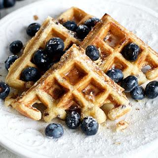Blueberry Ricotta Toaster Waffles