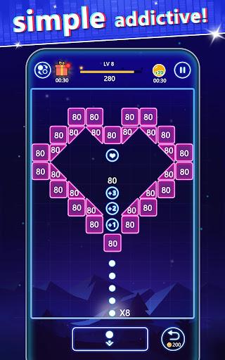Bricks Breaker-Swipe glow balls apktram screenshots 9