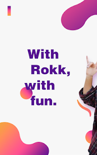 Rokk - Random video chat & Face swap filters Screenshot