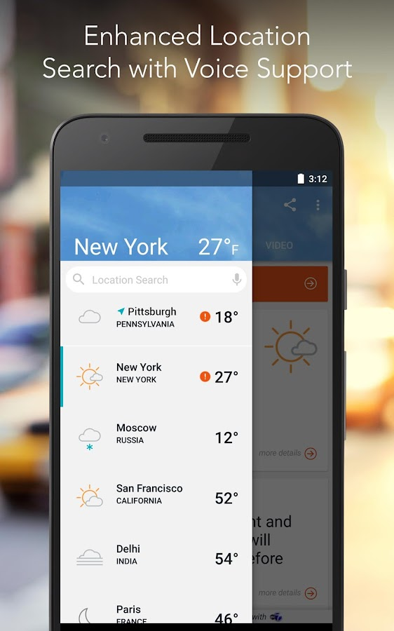 AccuWeather: Weather Forecast & Real Time Reports- screenshot
