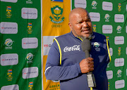 Lawrence Mahatlane, SA Under-19 coach during the Momentum Friendship Games match between Standard Bank Rocklands RPC and Grey Bloem at Grey Bloem on November 07, 2018 in Bloemfontein, South Africa.