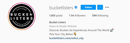 instagram name to match company website